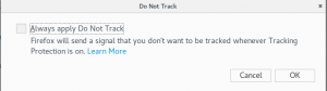 Firefox Do not track