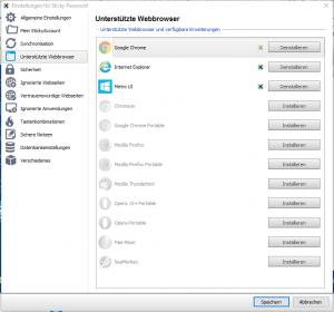 Sticky Password Browserintegration