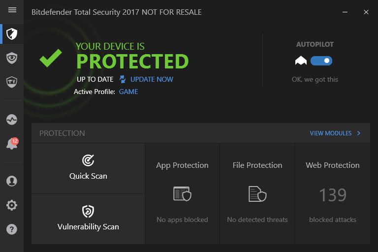 Bitdefender-Programm-Screenshot