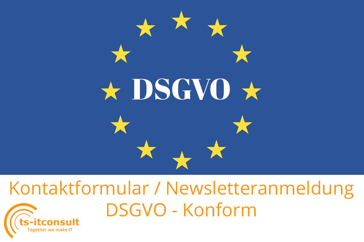 DSGVO: Kontaktformular auf der Webseite