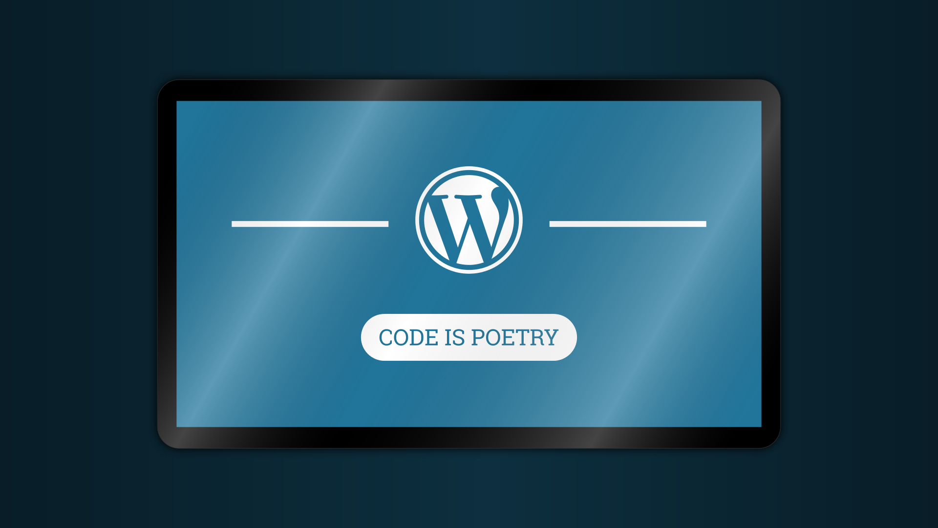 wordpress - code is poetry - banner