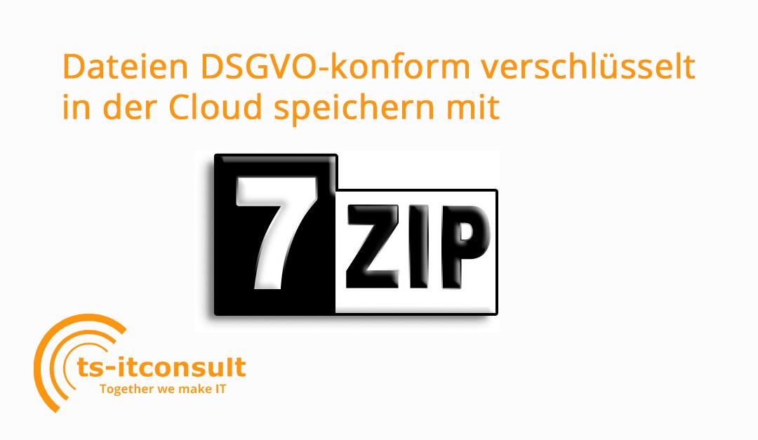 DSGVO: Dateien für Cloud verschlüsseln mit 7-Zip